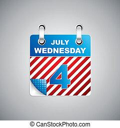 kalender, dag, onafhankelijkheid
