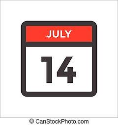 kalender, dag, røde sorte, ikon, måned, w