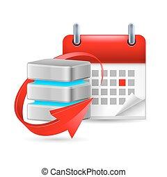 kalender, databank, meldingsbord