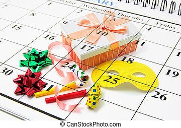 kalender, en, partij gunsten