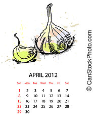 kalender, groentes, 2012