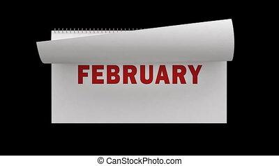 kalender, het wegknippen, vasten, pagina's