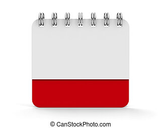 kalender, ikone, 3, spirale