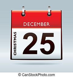 kalender, juldag