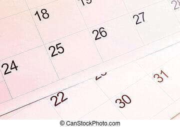 kalender, pagina's