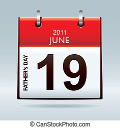 kalender, pictogram, vaders dag