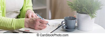 kalender, schreibende