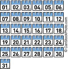 kalender, tage