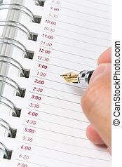 kalender, tagesordnung