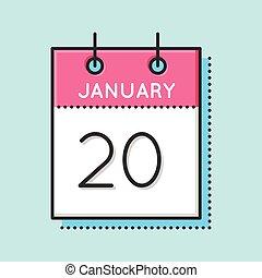 kalender, vector, pictogram