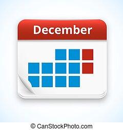 kalender, vektor, ikone