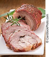 kalfsvlees, rol, gevulde