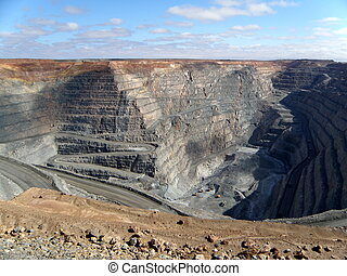 Kalgoorlie Super Pit is a large gold mine in the Western Australian outback