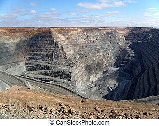 Kalgoorlie Super Pit is a large gold mine in the Western...