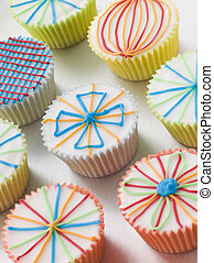 Kaliedoscope Cup Cakes