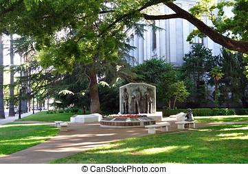 kalifornia, kongresszus székháza washingtonban, udvar