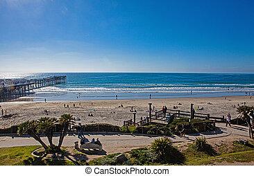 kalifornien, pazifik, sandstrand