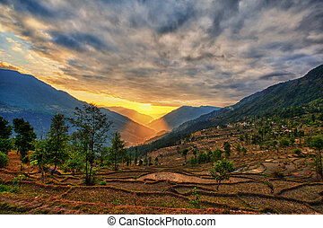 kalinchok, katmandou, vallée, népal