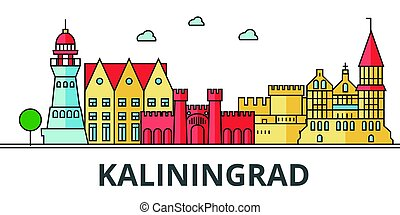 Kaliningrad city skyline.