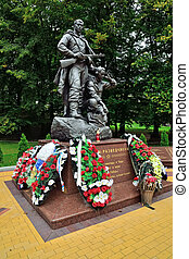 Kaliningrad, Russia - September 18, 2013: monument to soldiers-scouts in victory Park, tourist attraction of the city