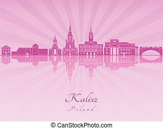 Kalisz skyline in purple radiant orchid