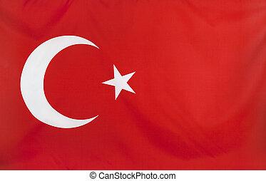 kalkoen vlag, echte, weefsel, seamless, dichtbegroeid boven