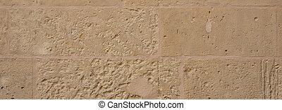 kalkstein, wand, malta, traditionelle , hintergrund, fassade, banner