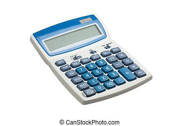 kalkulačka, vystavit, čistý