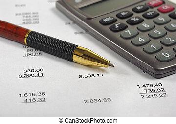 kalkulace, rozpočet
