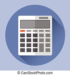 kalkulator, barwny, ikona
