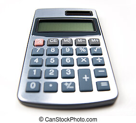 kalkulator, białe tło