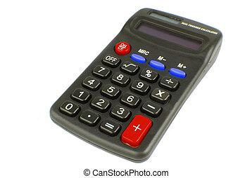kalkulator, biały, odizolowany