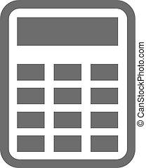 kalkulator, czarnoskóry, ikona