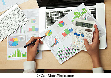 kalkulator, handlowe kobiety