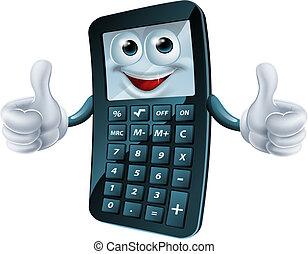 kalkulator, rysunek, człowiek