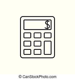 kalkulator, szkic, ikona