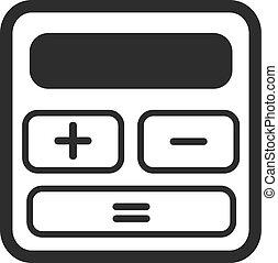 kalkulator, wektor, czarnoskóry, ikona