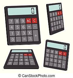 kalkulator, wektor, projektować, ilustracja