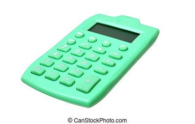 kalkulator, zielony