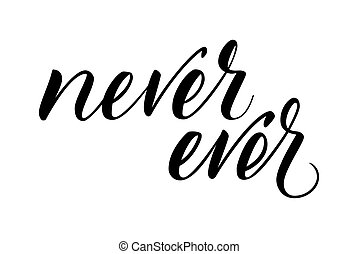kalligrafi, någonsin, borsta, aldrig