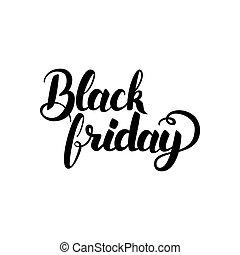 kalligrafi, svart, fredag, handskrivet