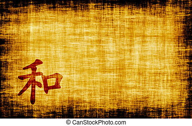kalligrafie, -, harmonie, chinees