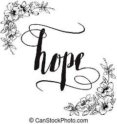 kalligraphie, typographie, hoffnung