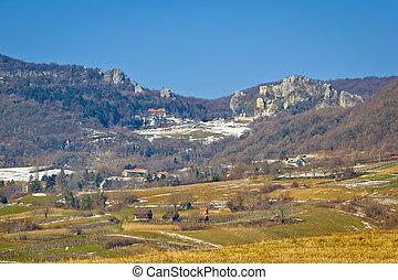 Kalnik mountain old fort ruins, Prigorje region of Croatia