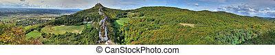 Kalnik mountain panorama, Croatia - Panoramic view on Kalnik...