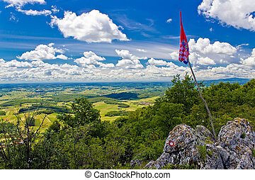 Kalnik mountain view from top - Kalnik mountain peak view...