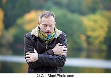 kalte , einfrieren, mann