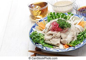 Kalte Sommerküche : Sommer schweinefleisch salat küche japanisches kalte
