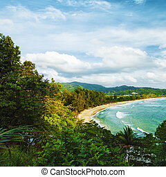 Kamala beach. Phuket island, Thailand. Square composition....