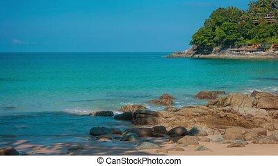 kamala, thaïlande, plage, ombragé, exotique